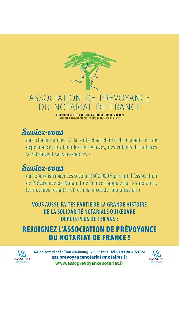 ASSOCIATION DE PREVOYANCE DU NOTARIAT